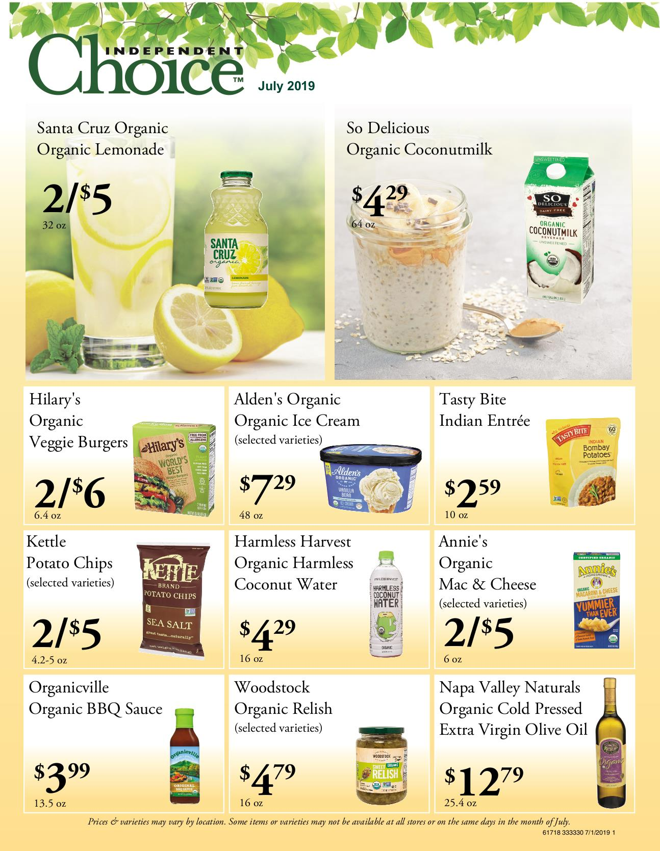 Nature's Pick Market Flyer Pg 1