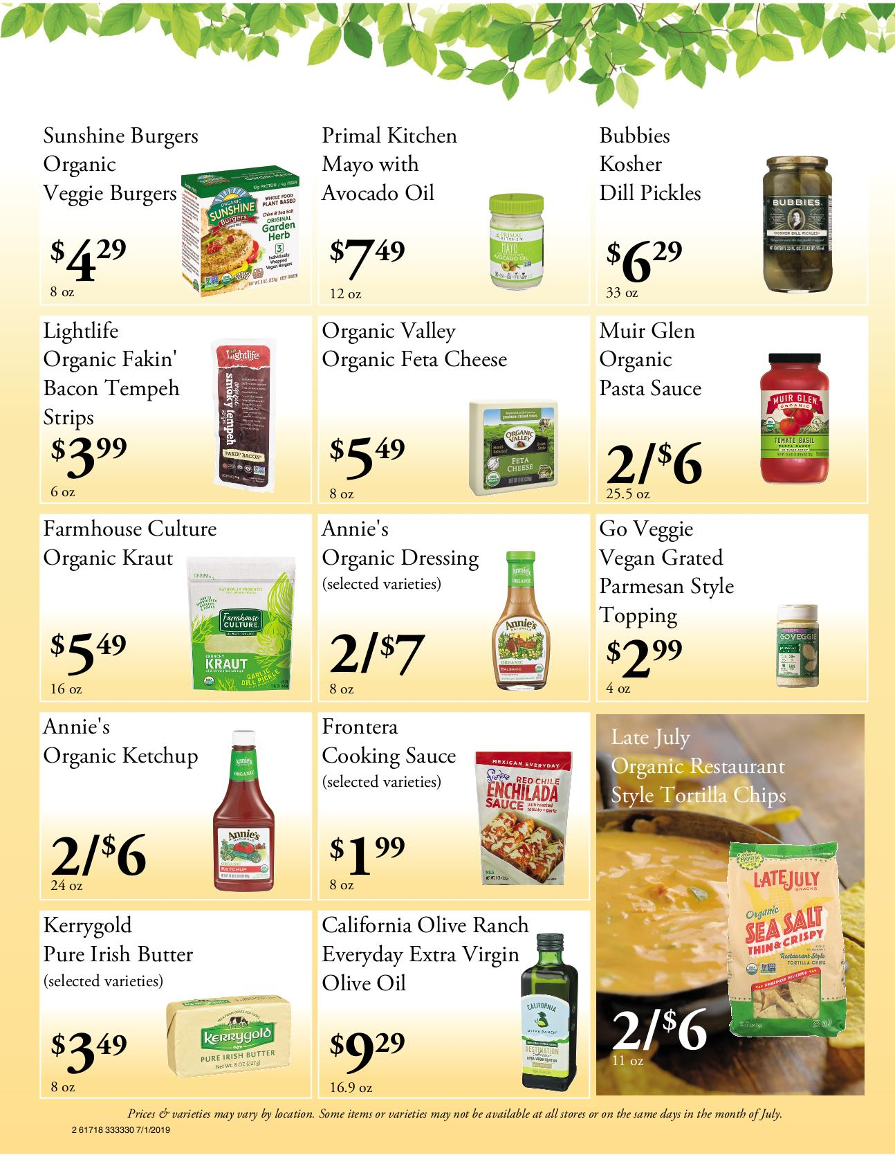 Nature's Pick Market Flyer Pg2
