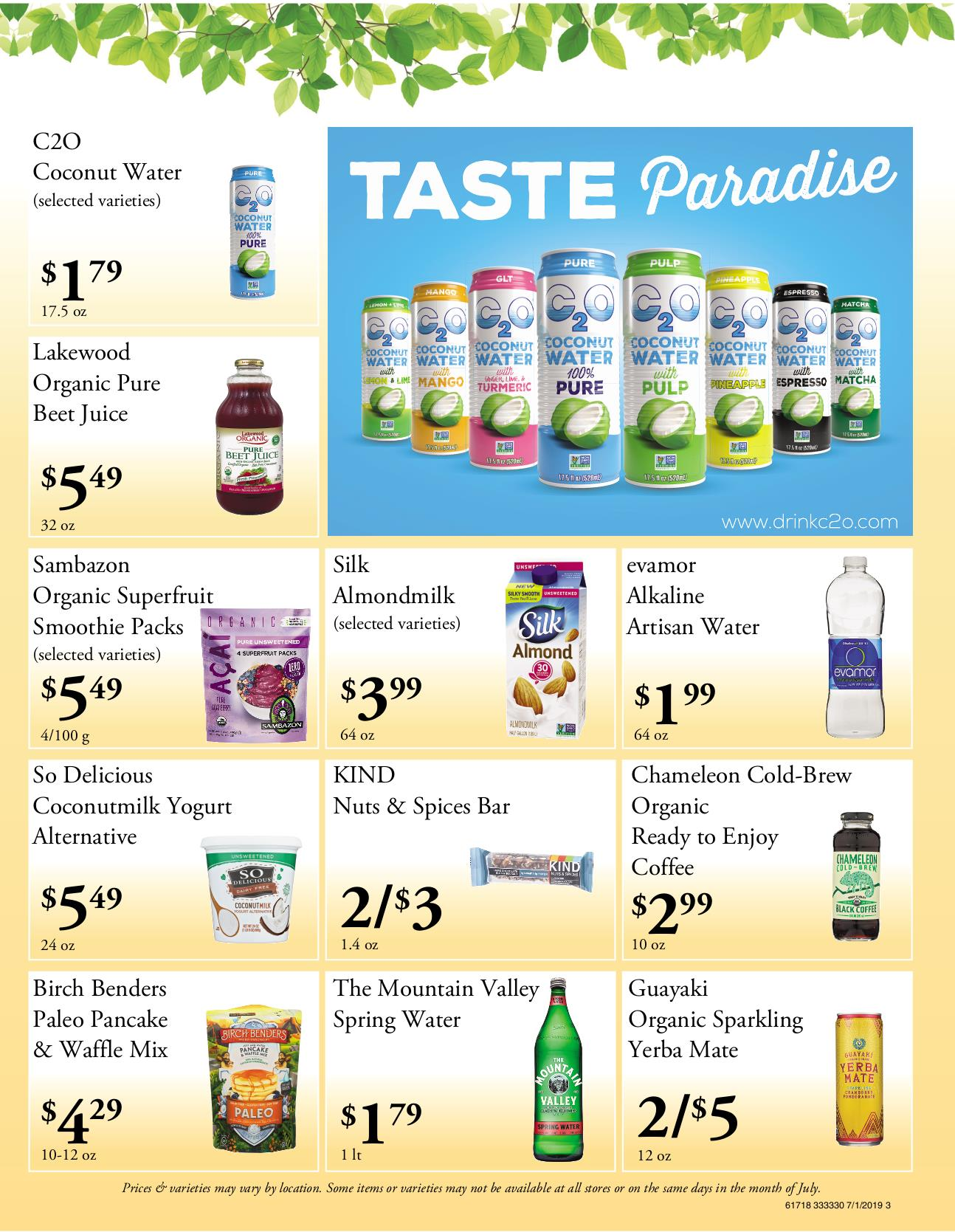 Nature's Pick Market Flyer Pg 3