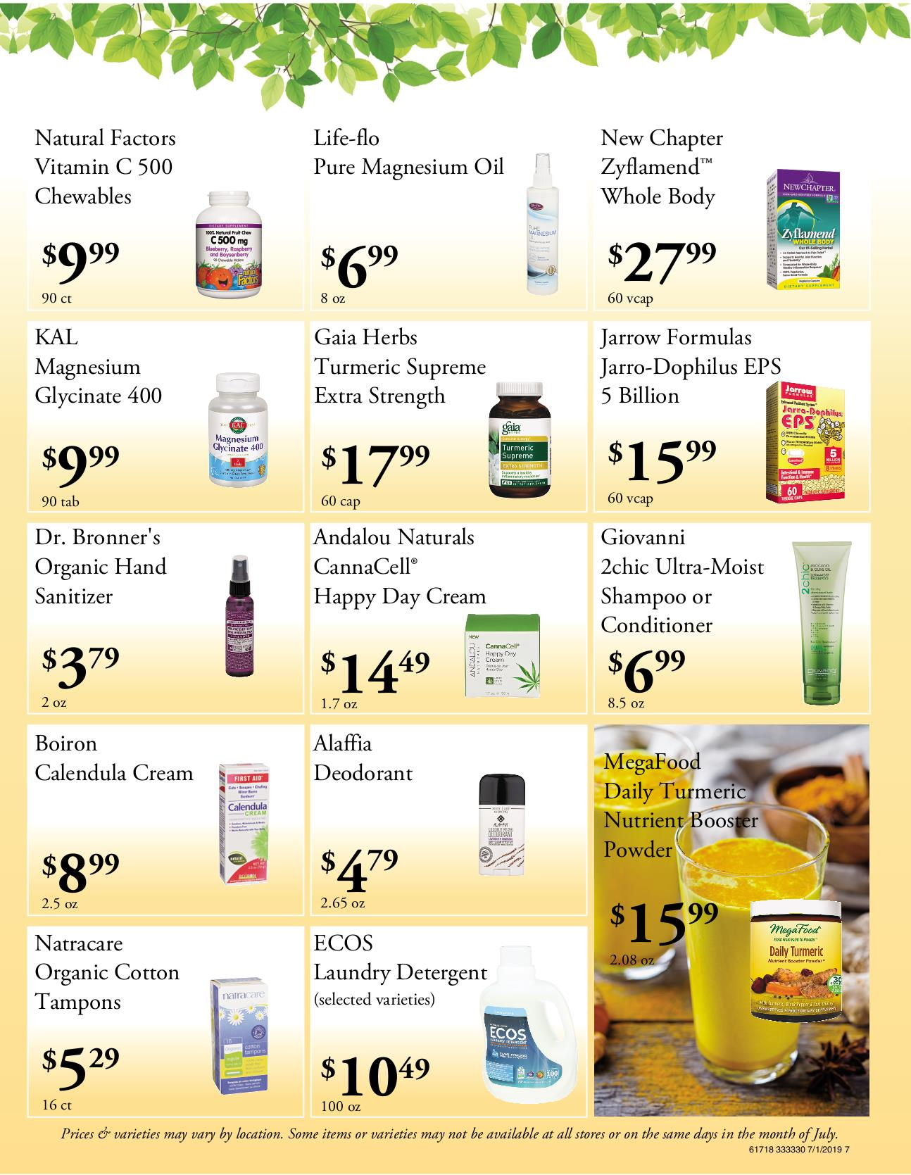 Nature's Pick Market Flyer Pg 7