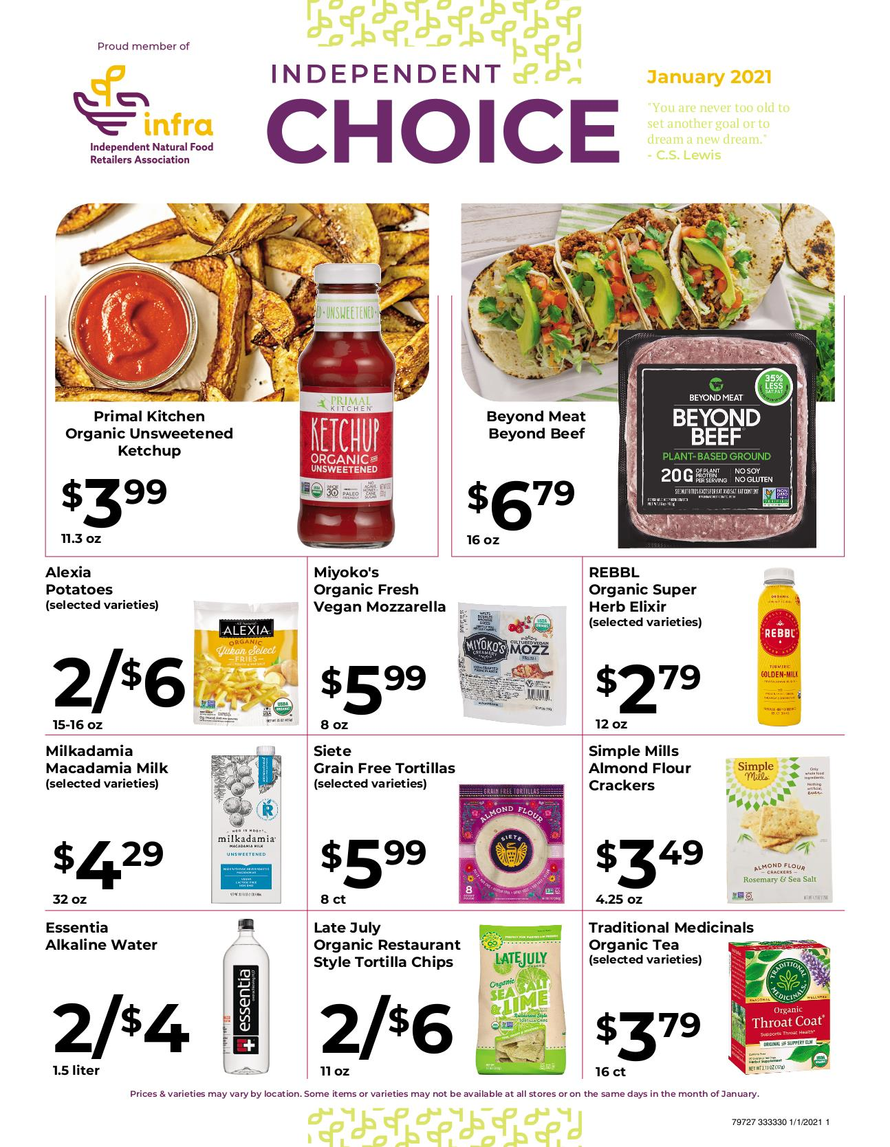 Nature's Pick Market Jan 2021 Sale Page 1