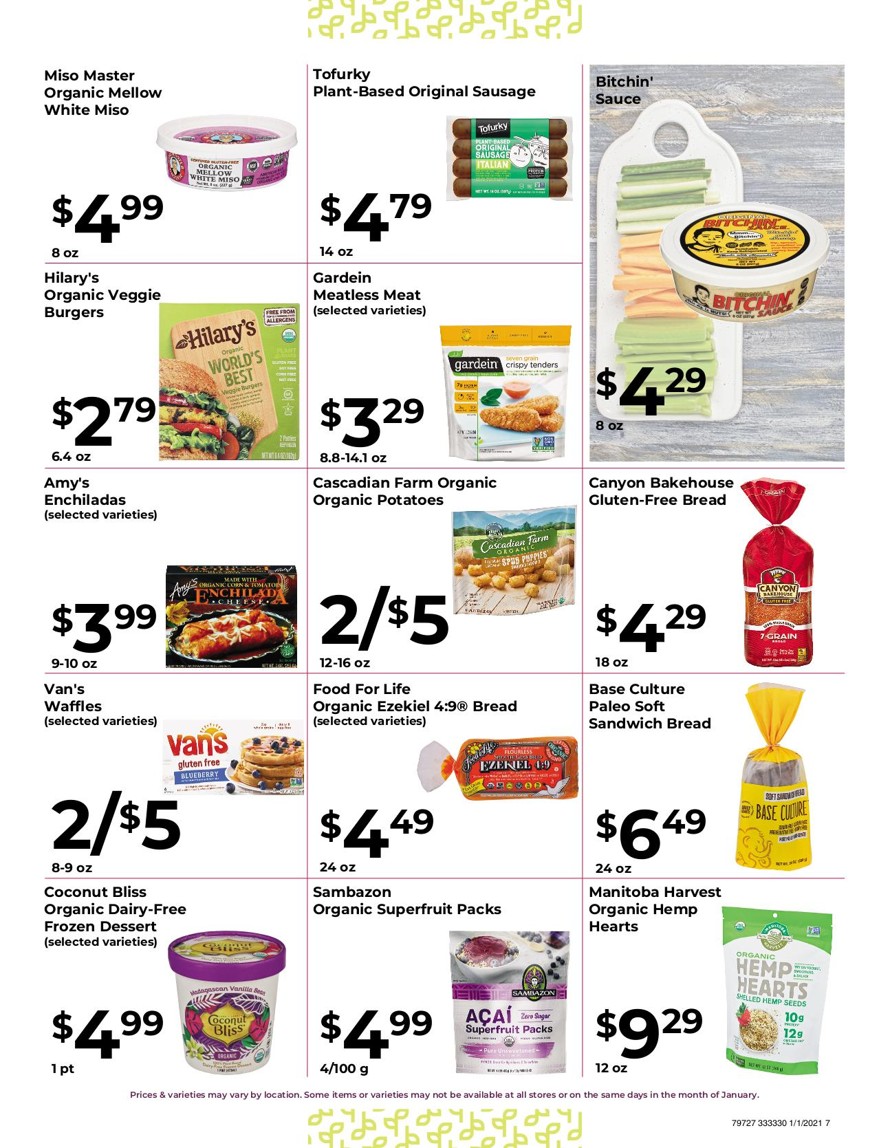 Nature's Pick Market Jan 2021 Sale Page 7