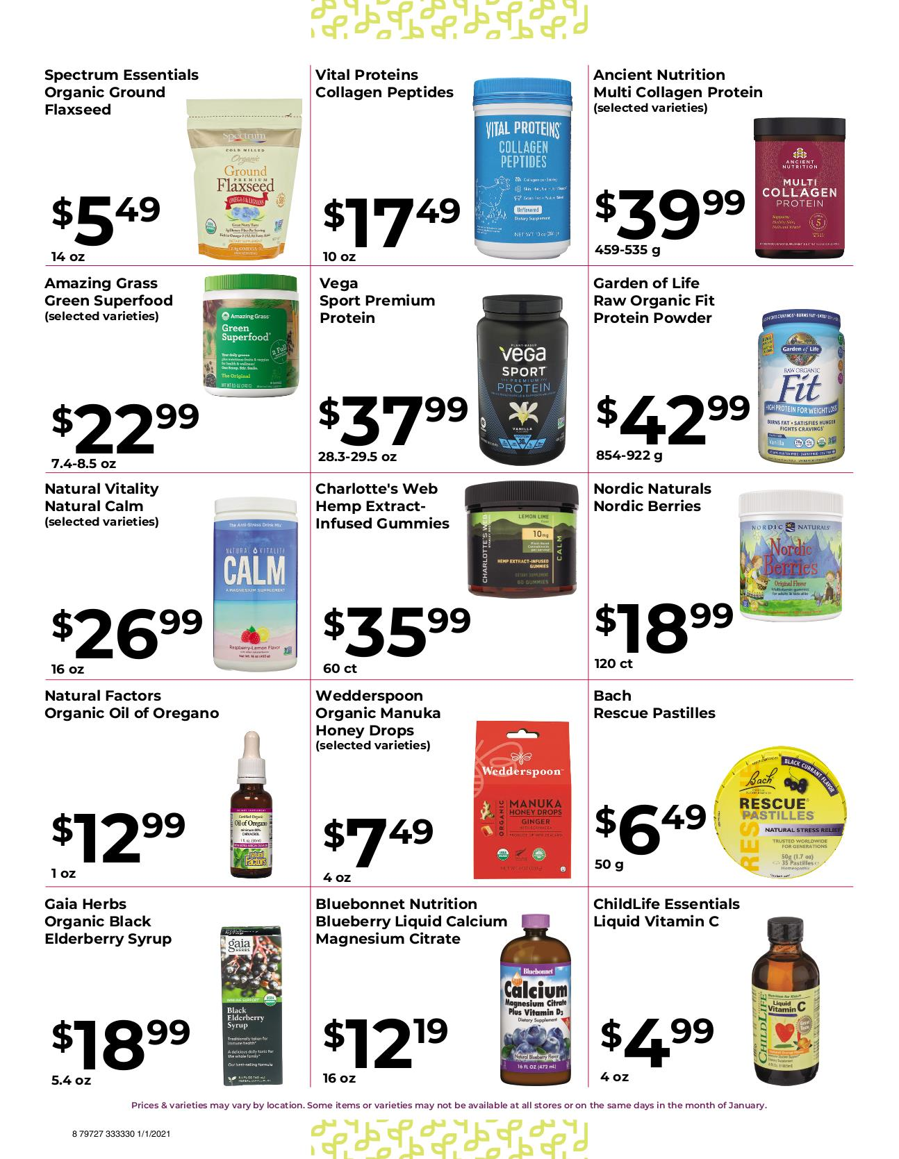 Nature's Pick Market Jan 2021 Sale Page 8