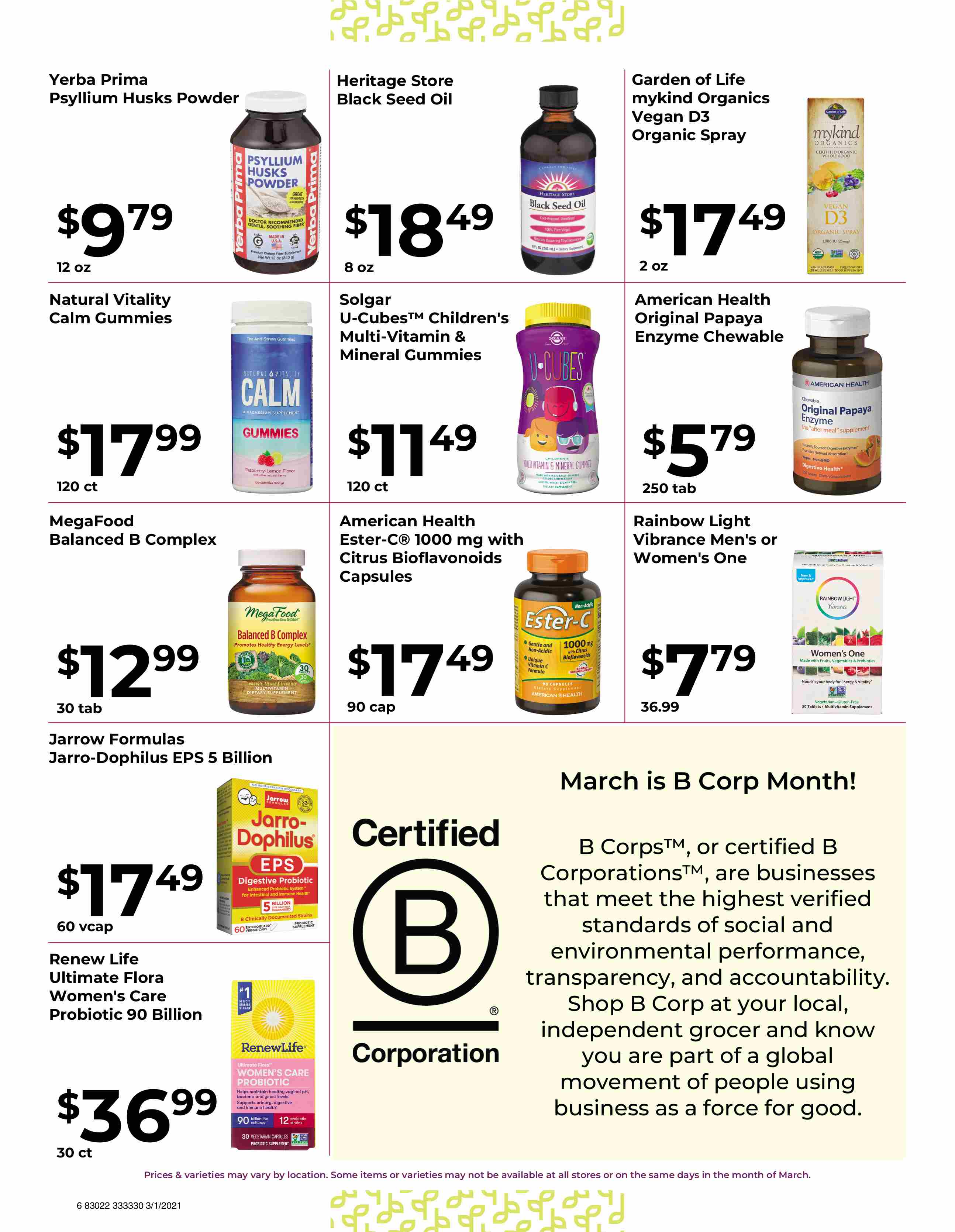 Nature's Pick Market Sale March 2021 - Pg 6