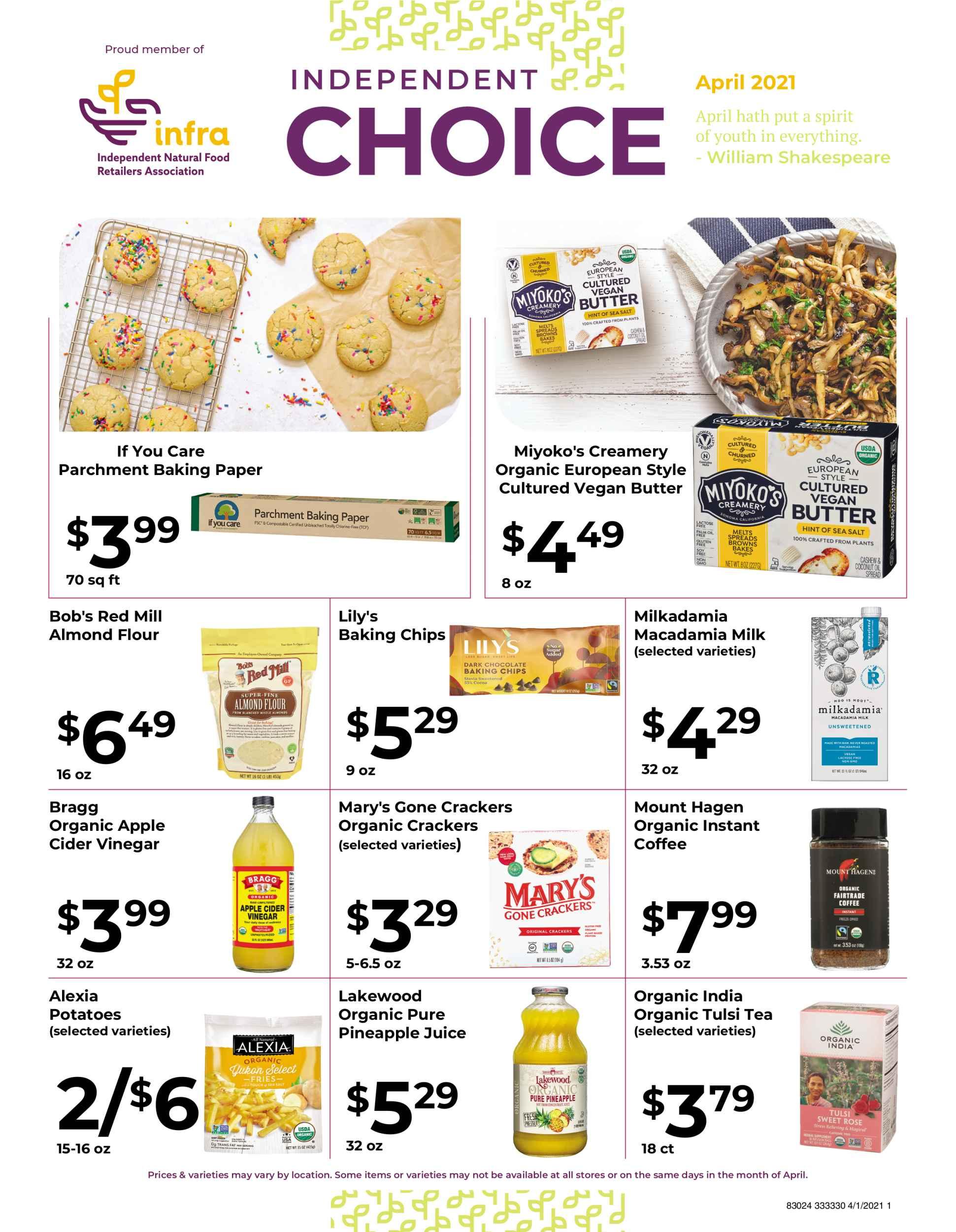 Nature's Pick Market Sale April 2021 page 1