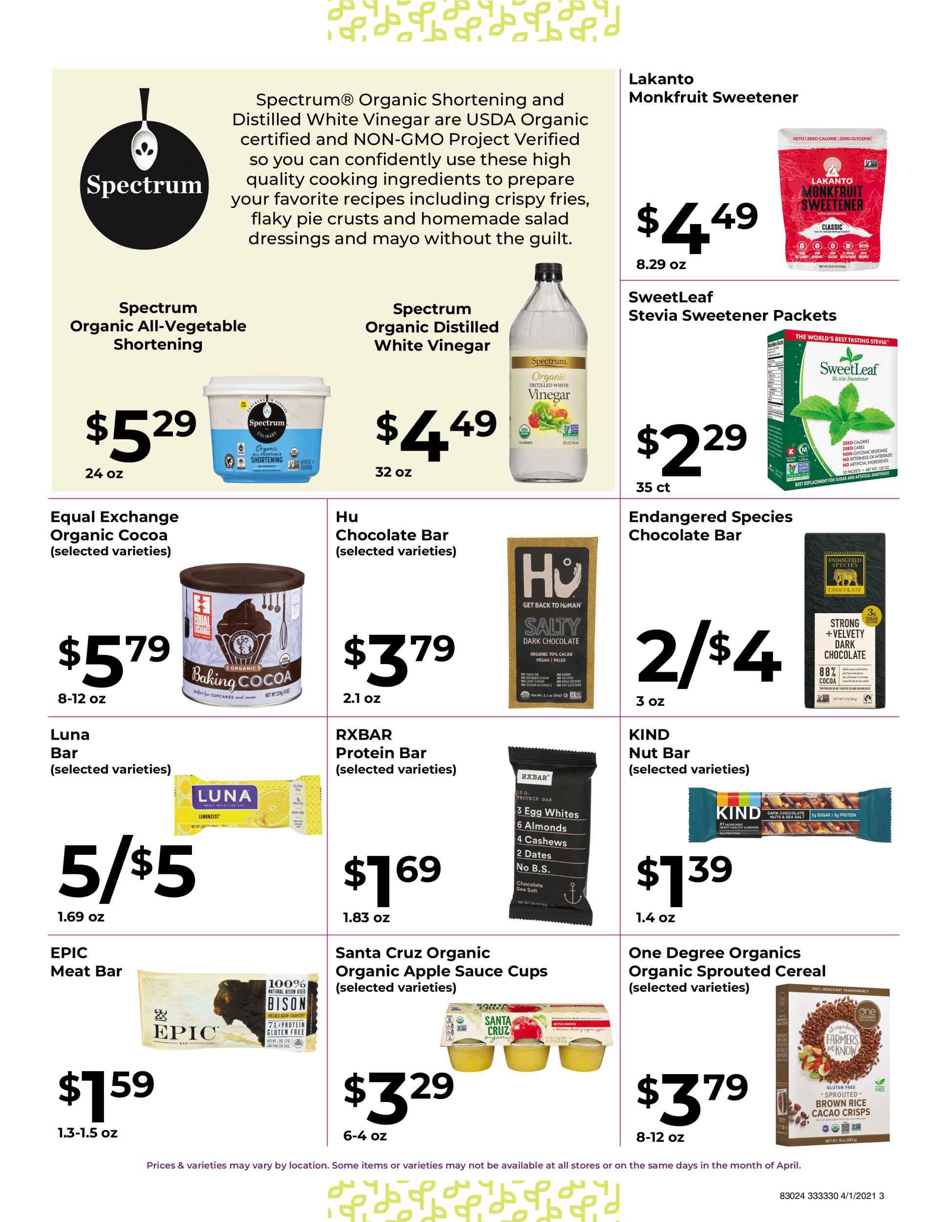 Nature's Pick Market Sale April 2021 page 3