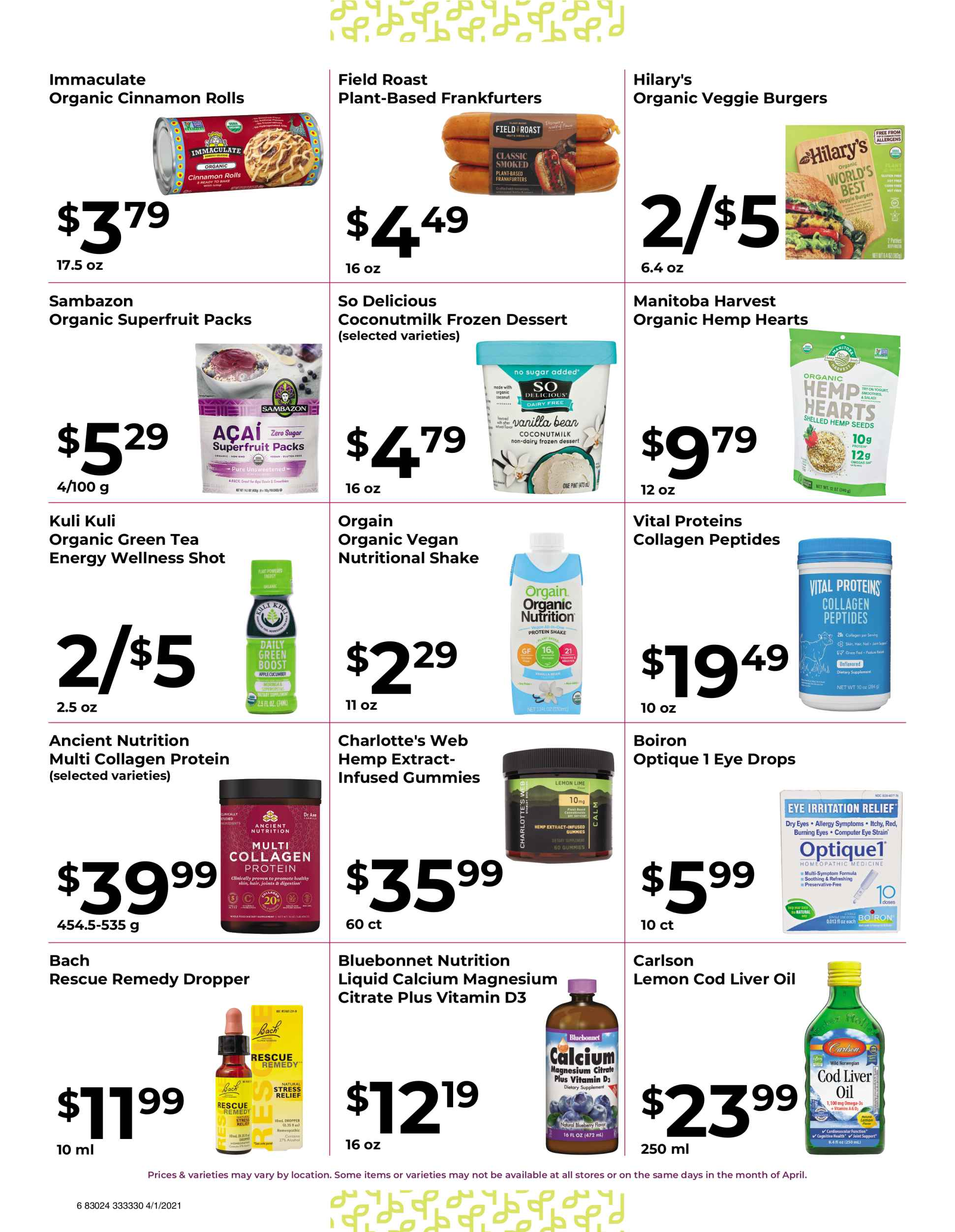 Nature's Pick Market Sale April 2021 page 6
