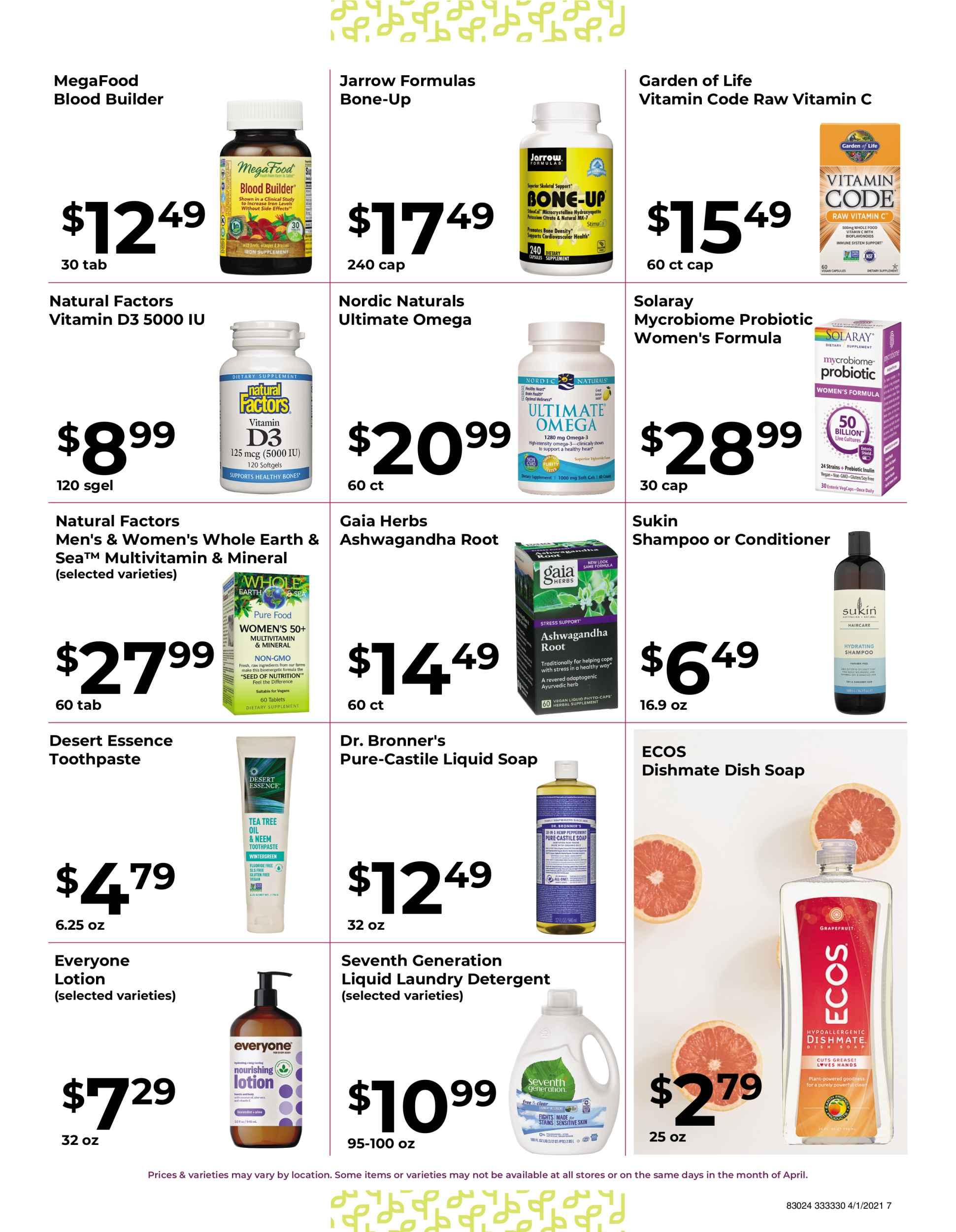 Nature's Pick Market Sale April 2021 page 7