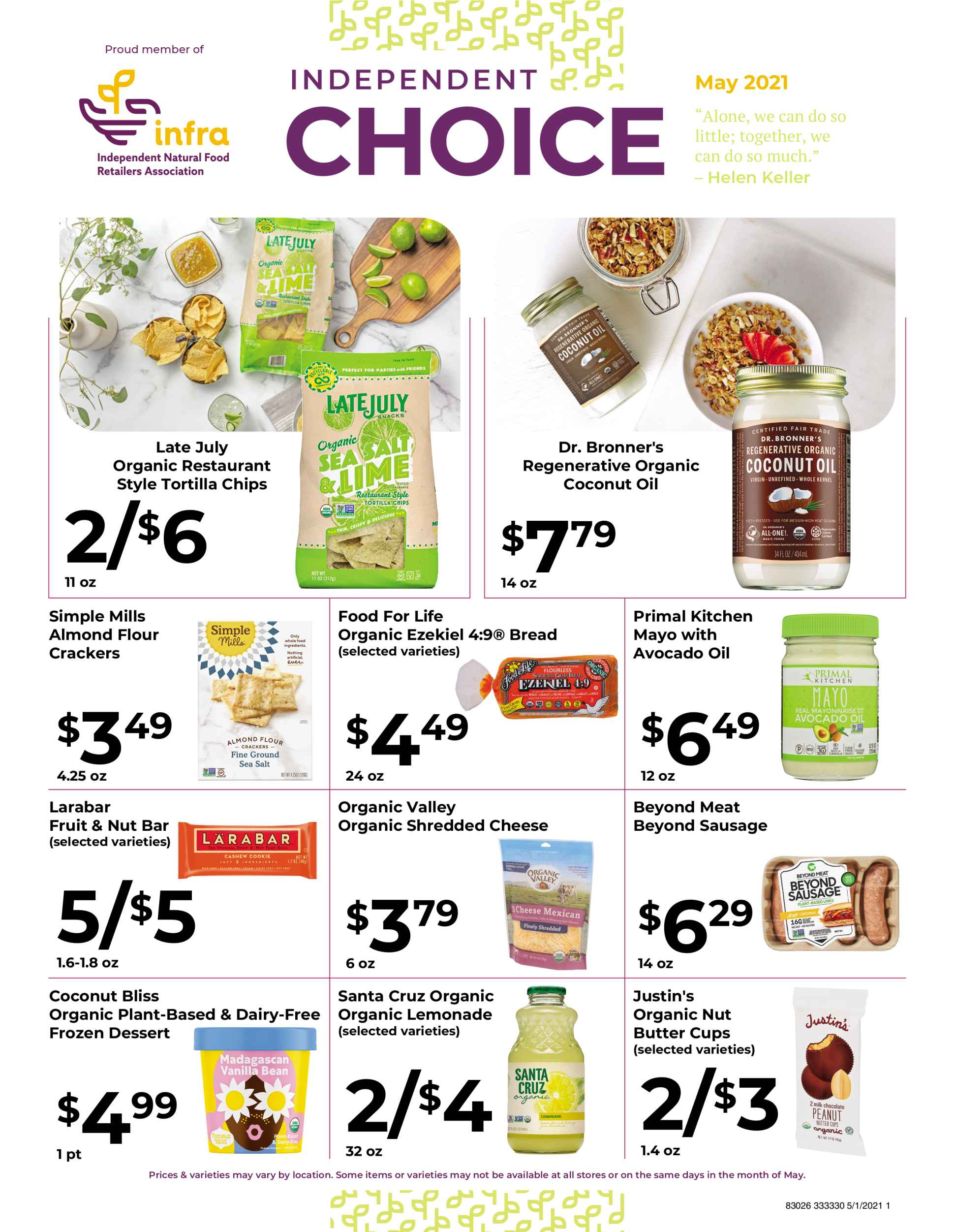 Nature's Pick Market Sale May 2021 Flyer Page 1