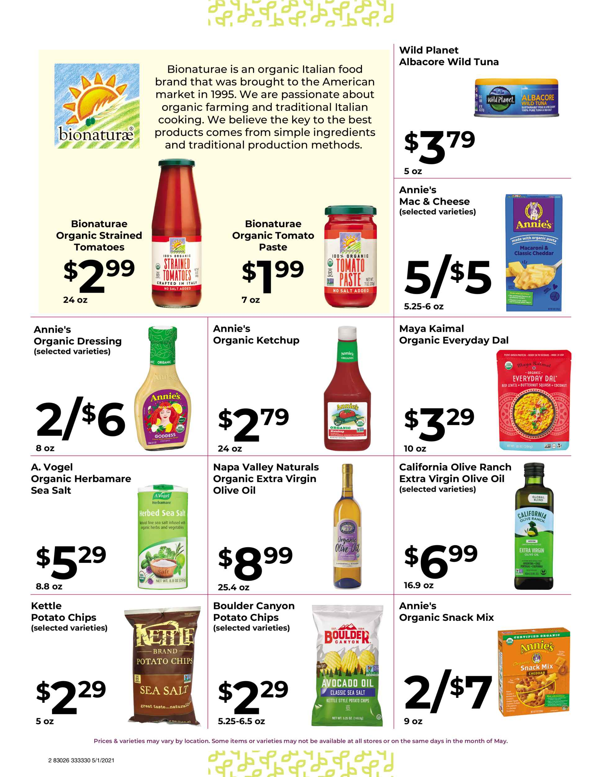 Nature's Pick Market Sale May 2021 Flyer Page 2
