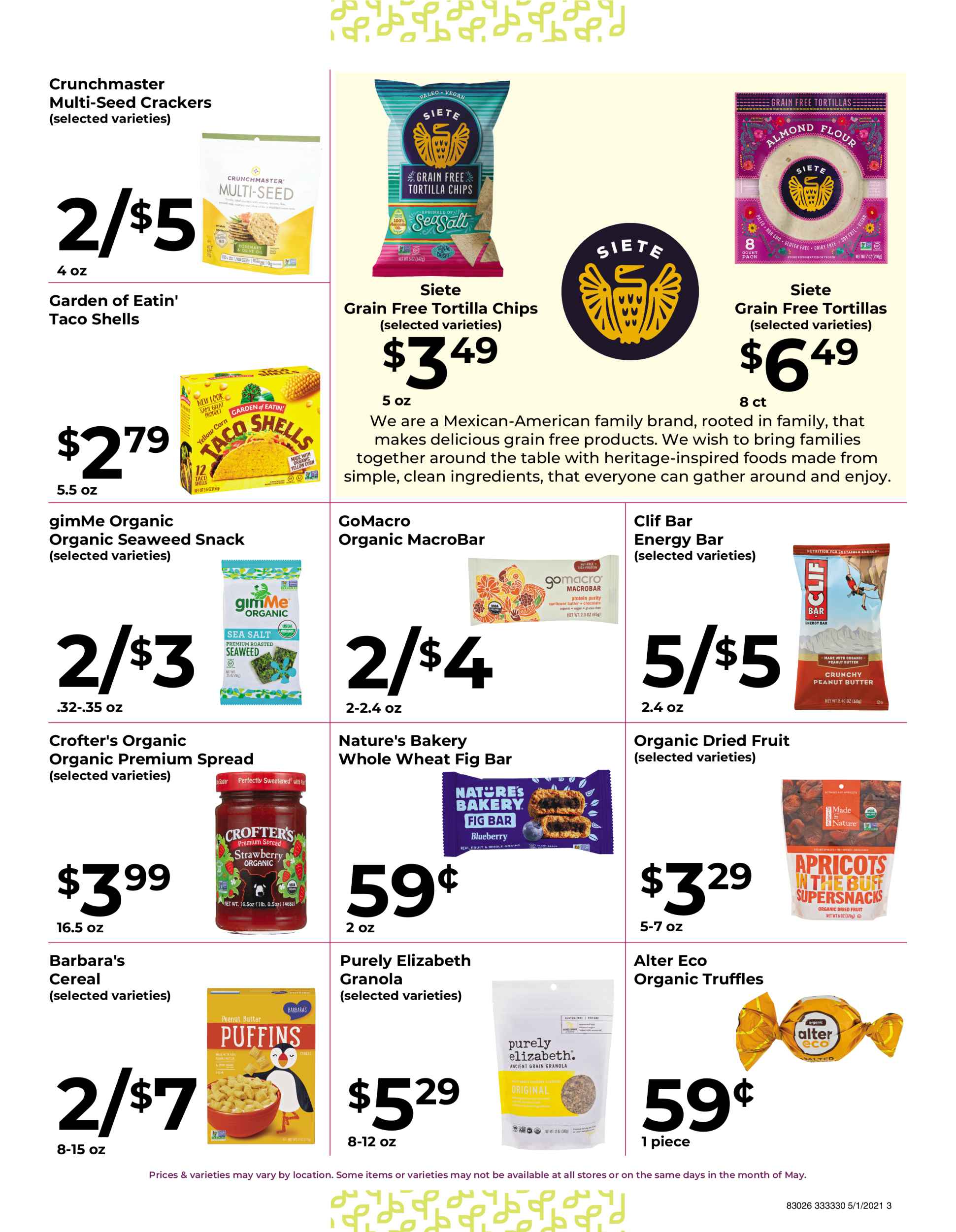 Nature's Pick Market Sale May 2021 Flyer Page 3