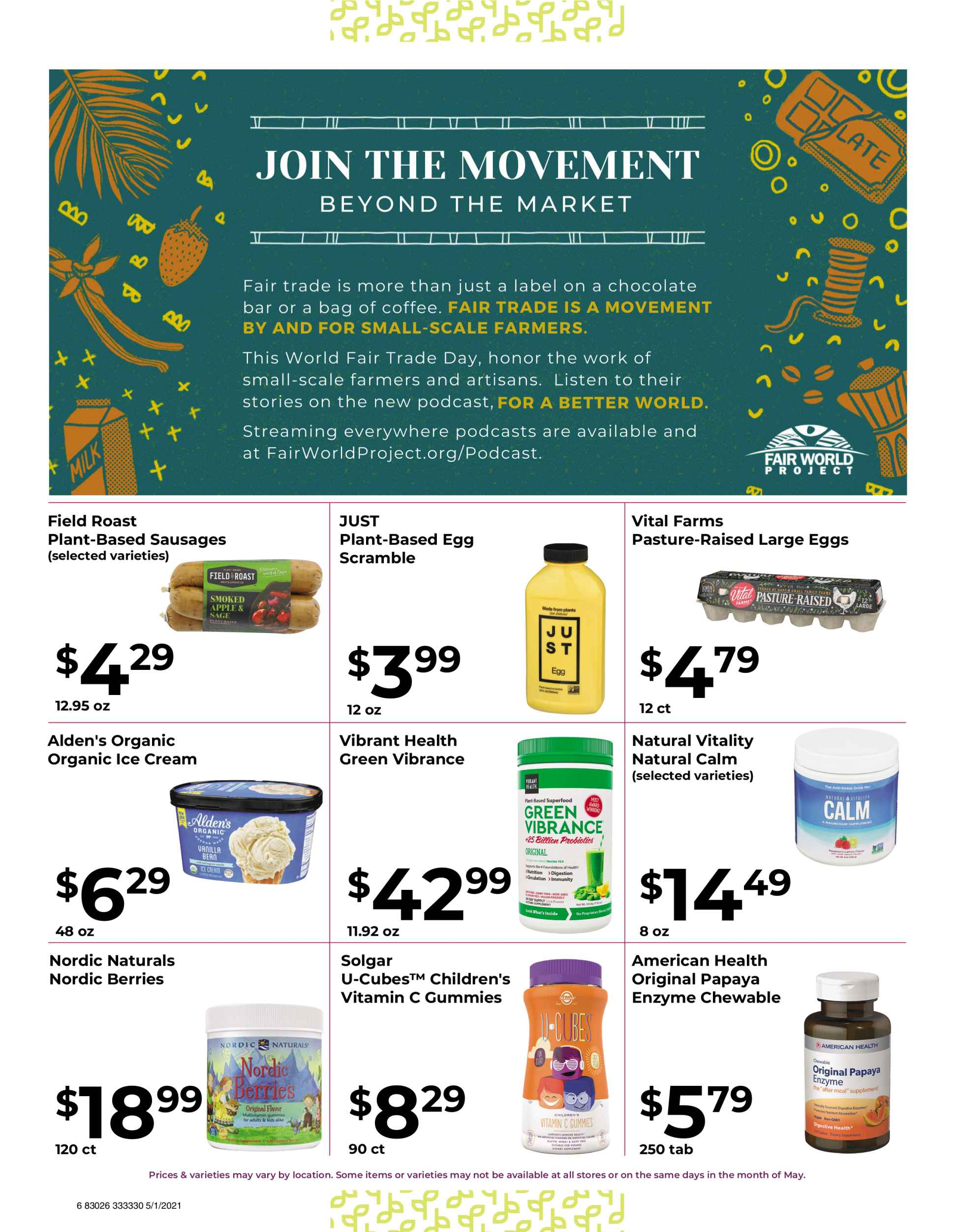 Nature's Pick Market Sale May 2021 Flyer Page 6