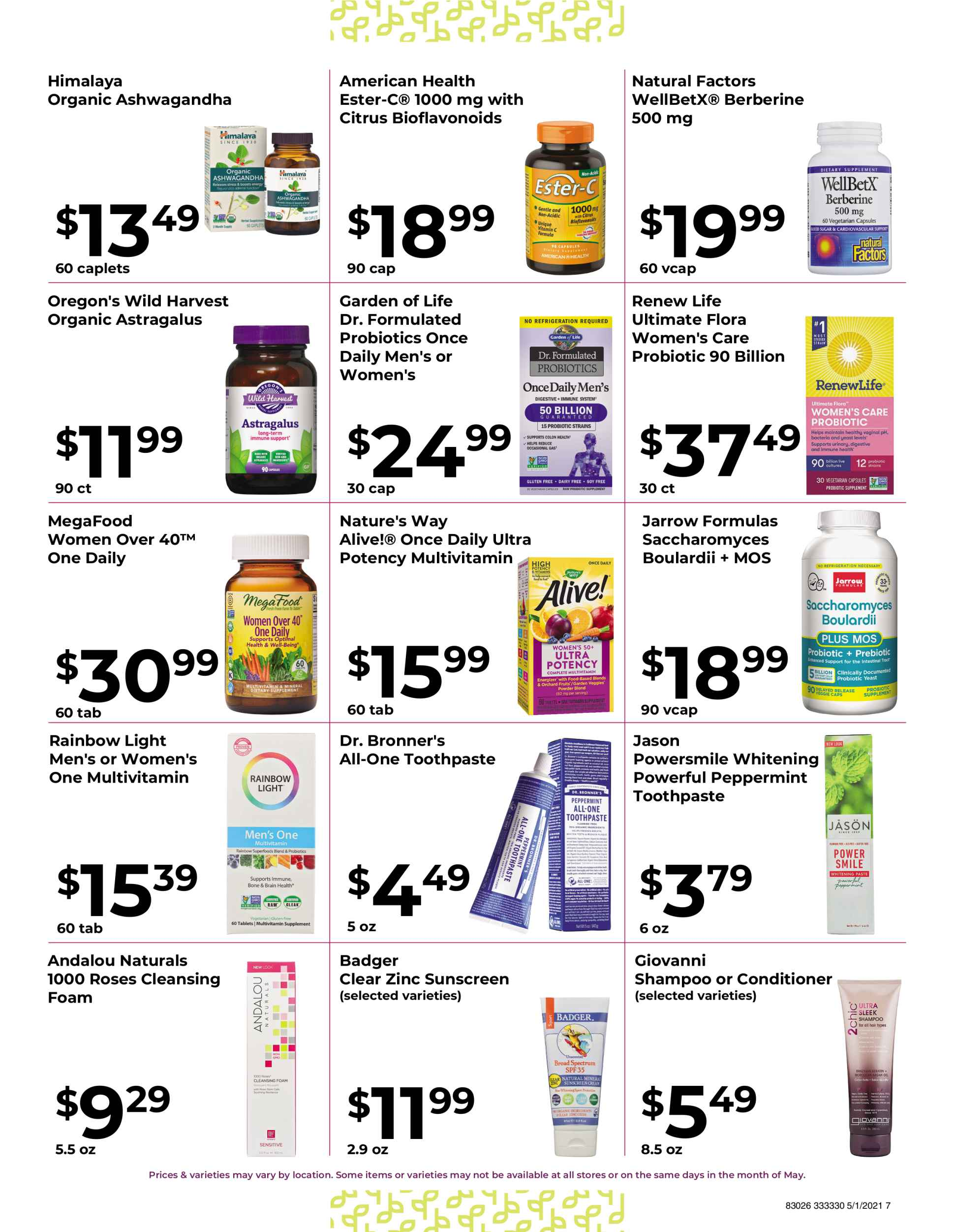 Nature's Pick Market Sale May 2021 Flyer Page 7