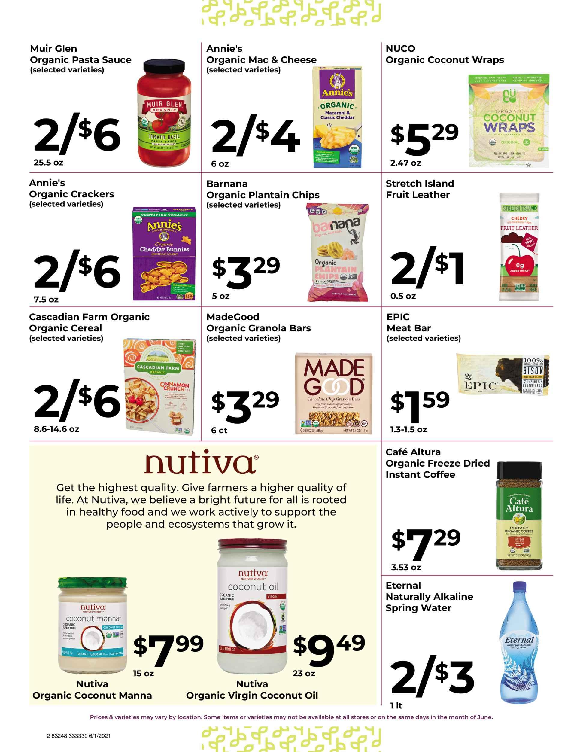 Nature's Pick Market Sale June 2021 Page 2