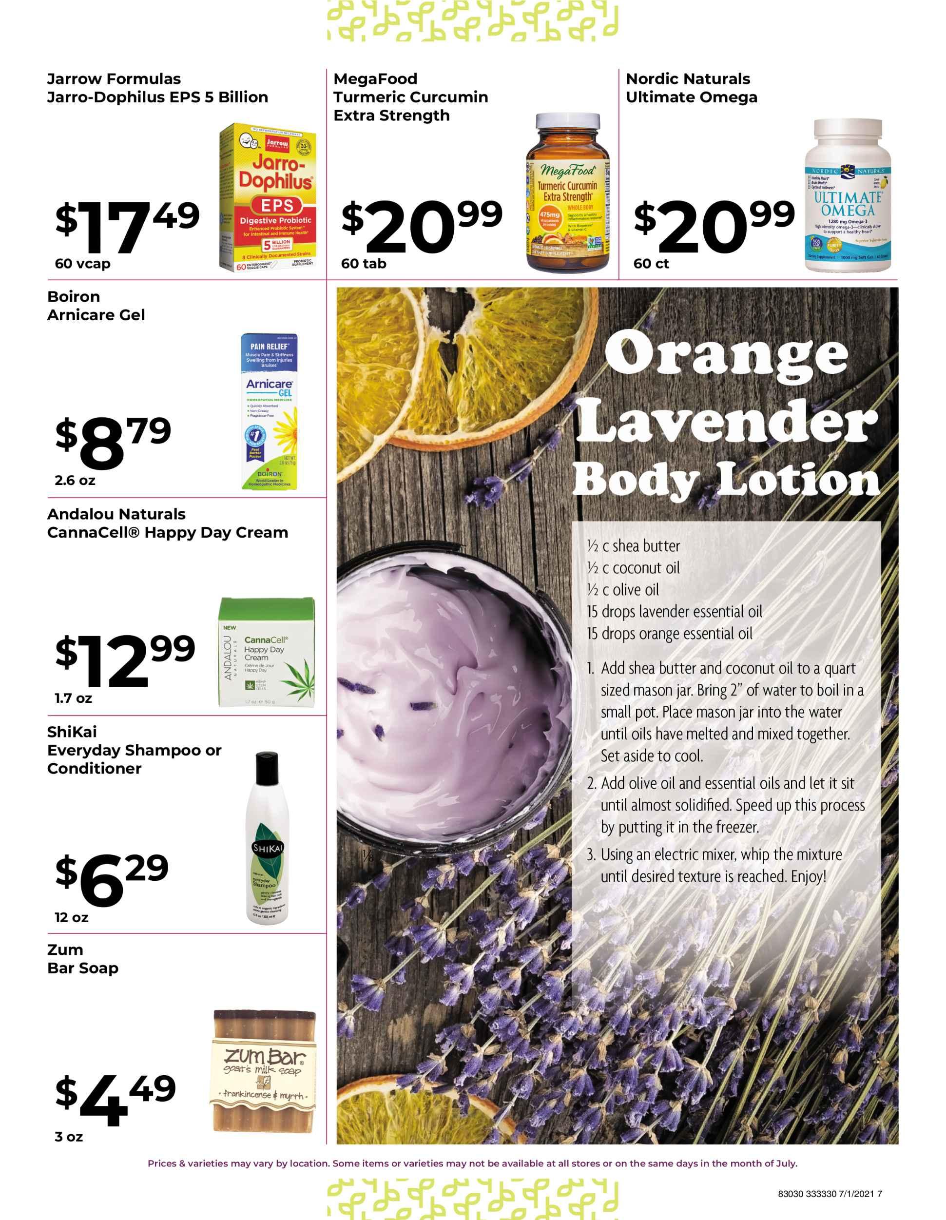 Nature's Pick Market Sale July 2021 Page 7