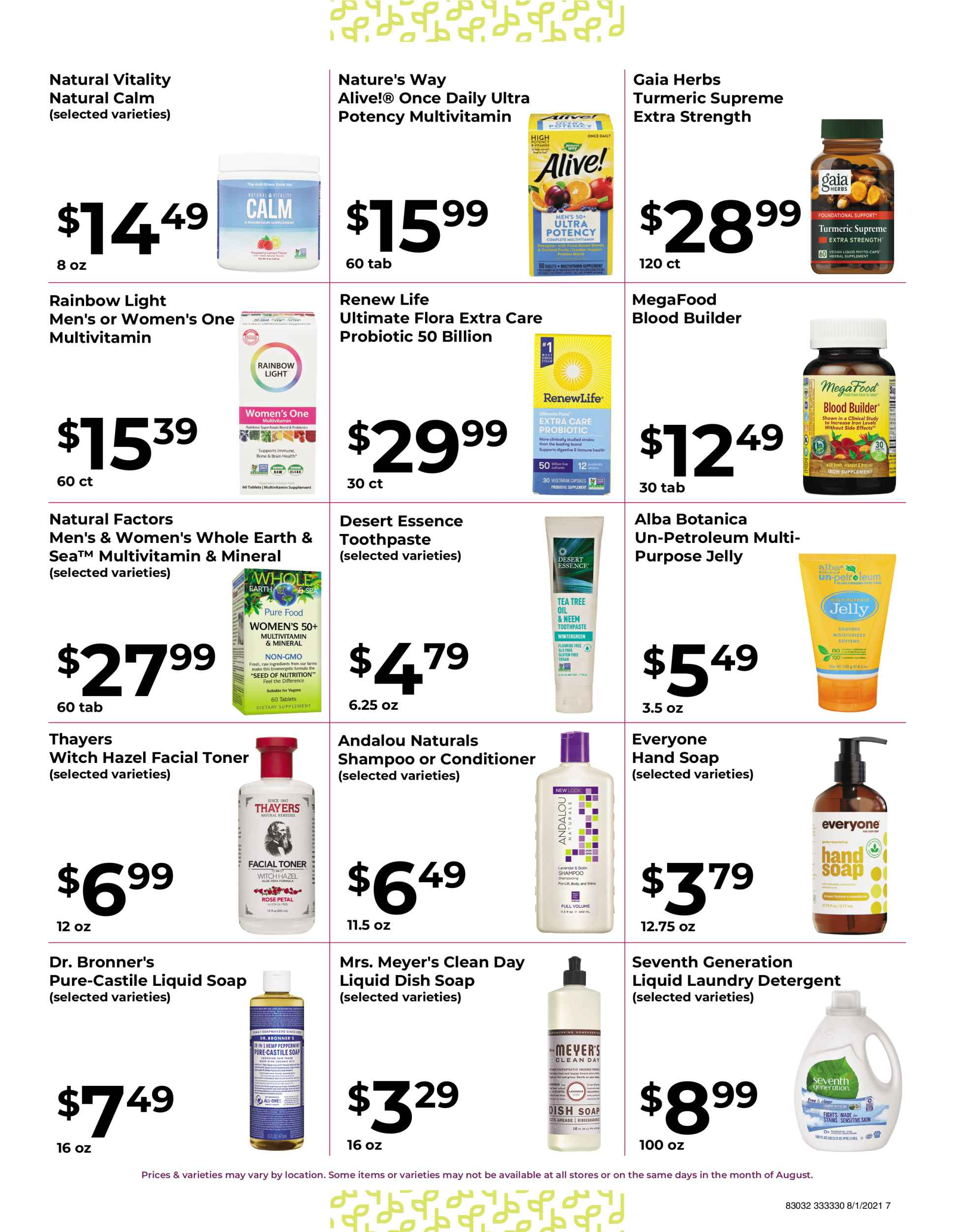 Natures pick market monthly sale page 7