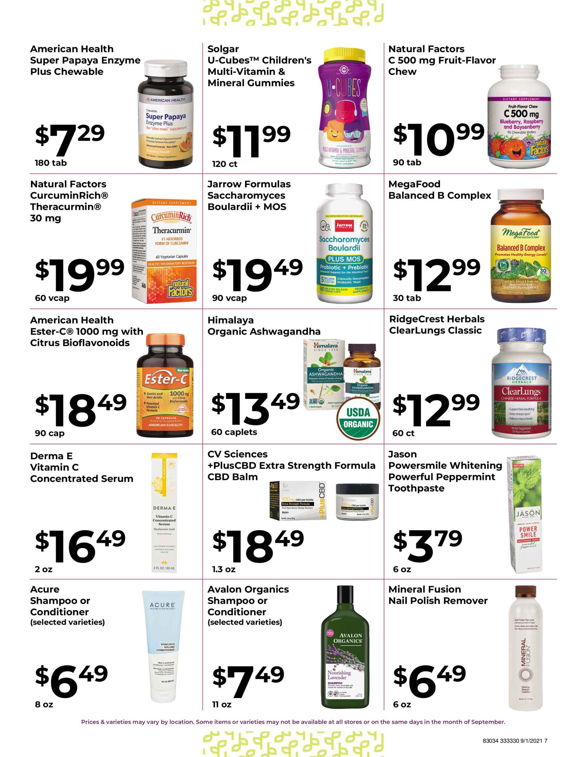 Nature's Pick Market September 2021 Sale Page 7