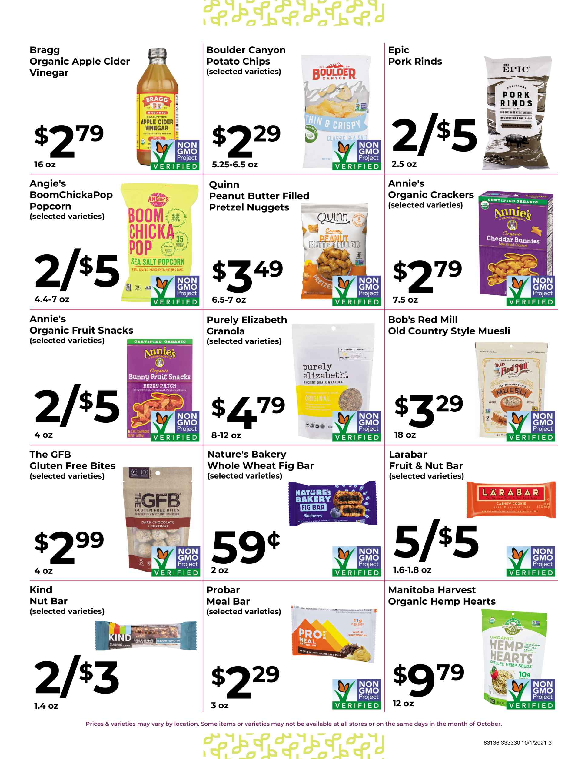 Natures Pick Market Monthly sale October 2021 page 3