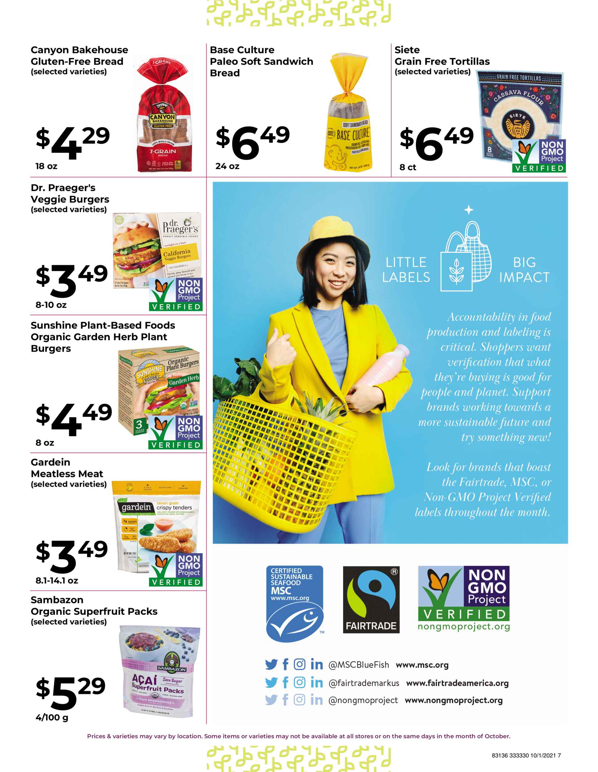 Natures Pick Market Monthly sale October 2021 page 7